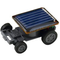 Wholesale Smallest Funny Mini Solar Powered Robot Auto Car Toys for Children Kids Black