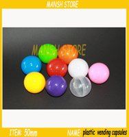 Wholesale 50mm solid color plastic round balls toy balls
