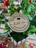 Wholesale Thank You love self adhesive stickers kraft label sticker Diameter CM For DIY Gift Cake Candy paper tags