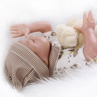 baby comfort nursery - 22inch Silicone Reborn Sleeping Baby Lifelike Newborn Boy Doll Kits Interactive Toys Women Nursery Training Collects