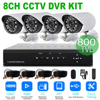Wholesale 2015 Upgrade Home Surveillance camera system kit CH H H HDMI DVR TVL Day Night IR waterproof Bullet Camera CCTV Systems