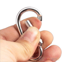 Wholesale 20Pcs Silver Aluminum Spring Carabiner Snap Hook Hanger Keychain Hiking tools RO