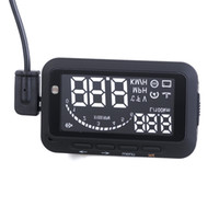 Wholesale New Arrival Car Head Up Display System Vehicle Mounted HUD Overspeed Warning inch OBD2 OBDII System F02 DHL