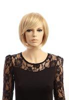 fashion hair short wig - Fashion Glamorous Charming Short blond Stright Hair Wigs Synthetic Hair Wigs H9025Z