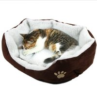 big house cats - TOP Pet Dog Nest Puppy Cat dog Soft Bed Fleece Warm House Kennel Plush Mat big warm Teddy plush pet bed dog cat houses