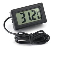 Wholesale Digital Thermometer BLACK LCD ELECTRONIC FISH TANK Water DETECTOR THERMOMETER AQUARIUM DIGITAL THERMOGRAPH Csubmerge thermometer in water