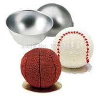 Metal cake tins - 4pcs Create D Ball Sport Cake Pan Tin Decorating Bakeware Fondant Mold Cutter Set Tool