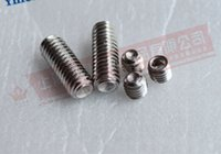 Wholesale M3 stainless steel hexagonal screw concave side set include top silk headless screw DIN916 GB80