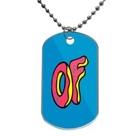 L52mm*w30mm animal creator - Odd Future Tyler The Creator Earl Sweatshirt Golf Customized Colorful Design Dog Tag Necklace Aluminum Tag for Animal Pets Tag