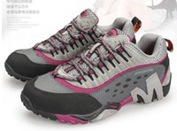 Wholesale Women s Genuine leather outdoor Hiking shoes fashion breathable waterproof wear resisting Sports shoes
