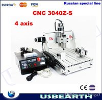 Wholesale from UK free TAX LY3040Z S axis cnc router w spindle motor with rotary axis for D wood working