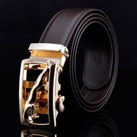 Wholesale Y16 Mens Luxury Brand Belt Send Friend Gift Golden And Black Genuine Leather Belt Men Accessories Casual Dress Trouser Belt