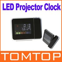 Cheap Digital LCD Screen LED Projector Alarm Clock Weather Station Freeshipping Dropshipping Wholesale