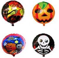 Wholesale 300PCS LJJH699 Halloween Skull Ghost Spiderman KT Balloons Pumpkin Head Balloon Decoration Balloon Aluminum Balloons for Party Home Festival
