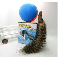 amphibious animals - New electric water nutria beaver balls amphibious Swim head the ball Children s toys luminous sound Toy animals