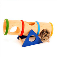 best hamster cage - Best Promotion Natural Wooden Colorful Seesaw Cage House Hide Toy Hamster Seesaw For Hamster
