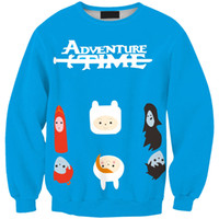 adventure avatar - Tracksuits sudadera Feminino Printed D Adventure time Avatar Female Hoodies Drop Shipping Sport Suit women winter clothing FG1510