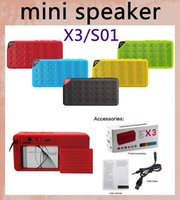 Wholesale S01 X3 OY Mini Portable Wireless Bluetooth Speaker HIFI Car with MIC Micro SD Loud Subwoofer Music MP3 Player for iPhone Plus S5 MIS001