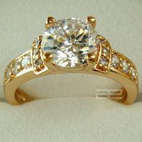 Wholesale 18K CT Gold Filled Engagement Beautiful Ring SZ7 R28