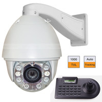 Wholesale 6 quot x Zoom TVL IR CCTV Camera Auto Tracking PTZ w Axle Keyboard Controller