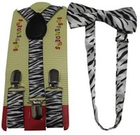 Cheap 2015 New Fashion Cute Baby Boys Black White Zebra Animal Bow Ties And Braces Suspenders Sets For Kids Chidrens Gifts