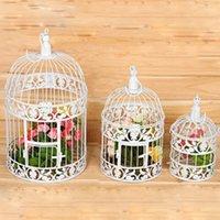 Wholesale Handmade Large Metal Antique Bird Cages Flower Decoration Fashion Classic Iron Birdcage for Wedding Decoration