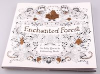 Wholesale Enchanted Forest Secret Garden Pages English Edition Children Adult Relieve Stress Kill Time Graffiti Painting Drawing Book