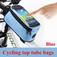 Wholesale Roswheel quot quot quot Inch Waterproof Black Cycling Bike Bicycle Front Phone Bag Case Holder Zip Pouch for iPhone Mobile Cell phone