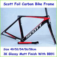 Wholesale Scott Foil Carbon Bike Frame Full Carbon Red Black Road Bicycle Parts k Glossy Matt Finish With BB91 Bottom Bracket Road Bicycle Frame