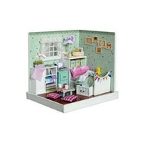 Wholesale 2016 Latest DIY Wood Doll House Assembling Toys for Children s Gift Novelty Miniature Dollhouse The Wonderful Wizard of Oz