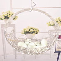aluminum wire basket - Modern fashion personality silver aluminum wire pendant light bird nest flower basket egg child bedroom lamp AC110 v