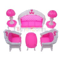 Wholesale Softred Dollhouse Furniture Living Room Parlour Sofa Set