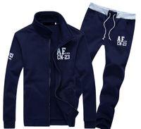 jogging suits - Hot New men tracksuit hoodies set sportswear coat spring autumn sport jogging sport suit jacket Sweatshirts sets