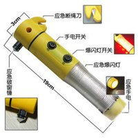 Wholesale Car safety hammer four in one life saving hammer escape hammer multifunctional flashlight emergency light multifunctional