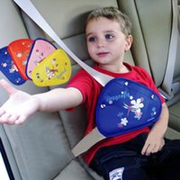 Wholesale Cartoon Color Children Safety Belt Regulator Triangle Protection Belt Holder Avoid Neck Hurt Kids Baby Safe Seat Accessories Promotion SK557