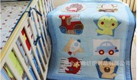 baby crib patterns - Stereo embroidery cotton Baby Quilt Nursery Comforter Cot Crib bedding animal lion giraffe Designs pattern