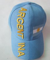 baseball argentina - World Cup Snapback Hats Embroidery Logo Argentina Baseball Caps For Women Men Fans Gift
