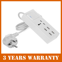 Wholesale EU Plug USB port charger power strip surge protector for iPhone iPad Samsung HTC Sony Nokia Google Moto order lt no track