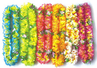 Decorative Flower artificial christmas wreath - Flowers Artificial colors Party Wedding Christmas Supplies Hawaiian Flower Lei Garland Wreath Artificial Flowers Necklace HH0001
