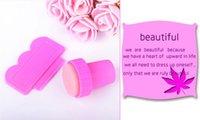 artist images - 2pcs set Pink Image Plate Scraping Knife Nail Art Stamping Stamp Salon Artist Tools
