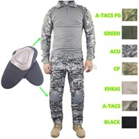 camo clothing - Tactical cargo pants with knee pads camo military uniform clothing combat trousers suit camouflage training us army military
