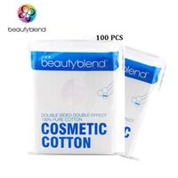 Wholesale 100 bag Soft Dual Side Double Effect Cotton Pads Remove Face Make Up Residue Cleanser Nail Polish Makeup Wipe Cotton Paper order lt no t