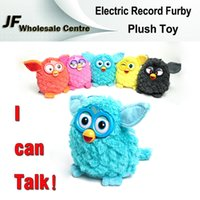 Wholesale Newest Electric Parrotry Furby Plush Doll Phoebe Cartoon Electronic Talking Pet Toys Firbi Elves Record With Retail Package Christmas Gifts