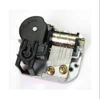 Wholesale Wind up music box movement gold silver red copper whole black DIY wedding music box movement parts