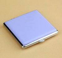 metal cigarette case - New TEAM PISTOL Purple Cigarette Case cm Metal Cigarette Case for Cigarettes Leather Cigarette Box B