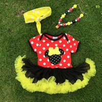 Wholesale Newest Summer baby rompers short sleeve Minnie Mouse polo baby girls overall cotton baby jump suits size M M clothing