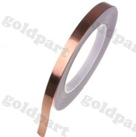 Wholesale 1x mm M mm Adhesive Copper Foil Tape for Magnetic Radiation Electromagnetic Wave EMI Shielding Masking order lt no track