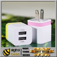 Wholesale New Wall Charger V A EU US Plug usb home charger adapter Universal IC Power u Adapter For Iphone plus samsung s7