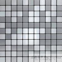 Wholesale Sanxin silver mirror brushed silver aluminum composite panel mosaic backdrop wall stickers from mentioning gum