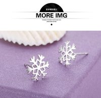 beautiful snowflakes - New Arrival Sterling silver Shining Diamond Crown Stud earrings Fashionable Snowflake Jewelry Beautiful Wedding engagement gift
